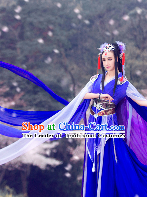Ancient Chinese Princess Clothing and Hair Accessories Complete Set for Women Girls Kids Adults