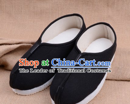 Grey Handmade Chinese Opera Shoes Stage Performance Shoes Classical Shoes