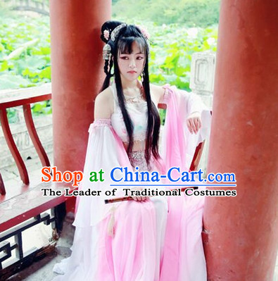 Ancient Chinese Dancer Clothing Traditional Chinese Clothes Dresses Tangzhuang Han Fu Complete Set for Women