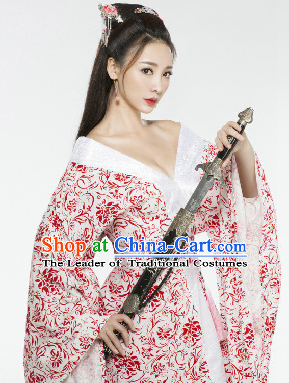 Top Chinese Traditional Halloween Sexy Han Fu Costumes for Women
