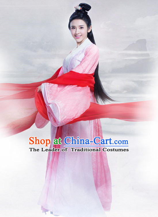 Top Chinese Ancient Beauty Costume in Women's Theater and Reenactment Costumes Ancient Chinese Clothes and Hair Jewelry Complete Set for Women Girls Children Adults