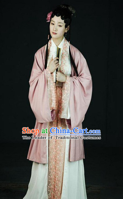 Top Chinese Traditional Clothing Theater and Reenactment Costumes Red Chamber Chinese Clothes Complete Set for Women