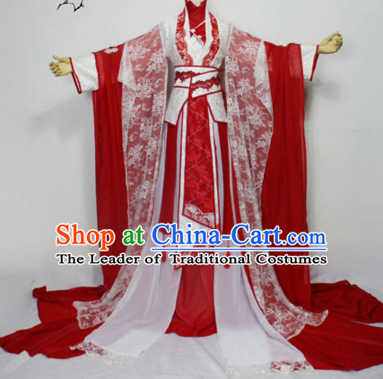 Chinese Women Traditional Royal Empress Dress Cheongsam Ancient Chinese Clothing Cultural Robes Complete Set