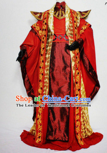 Chinese Men Traditional Royal Emperor Dress Cheongsam Ancient Chinese Royal Clothing Cultural Robes Complete Set