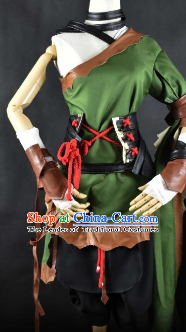 Chinese Traditional Hanfu Knight Cosplay Costume Chinese Cosplay Hanfu Halloween Costume Party Costume Fancy Dress