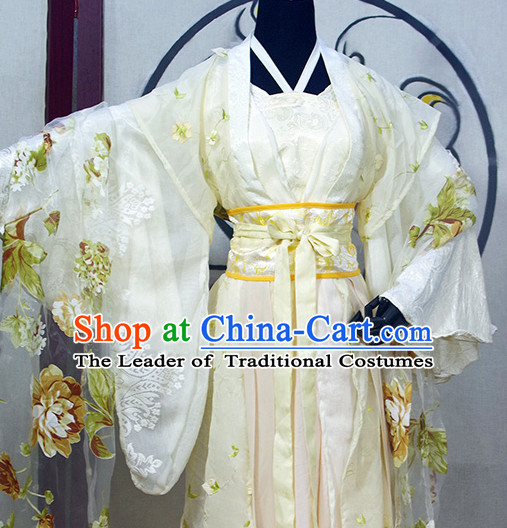 Chinese Ancient Princess Clothing Robes Tunics Accessories Traditional China Clothes Women Adults Kids