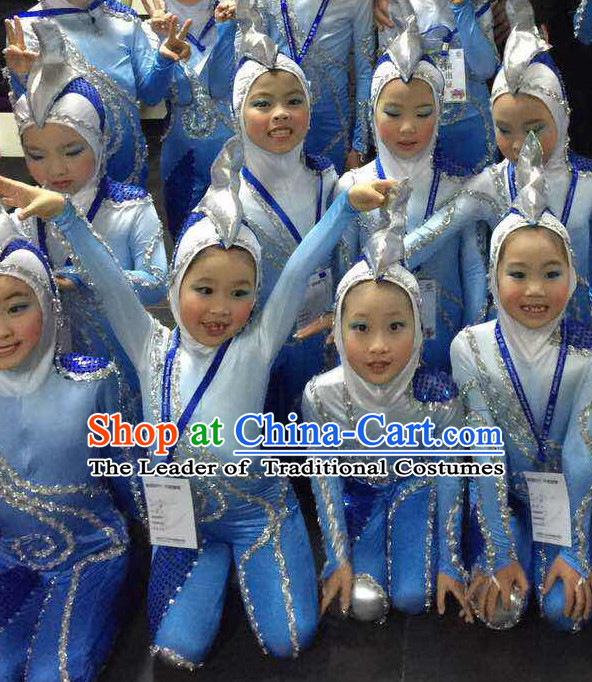 Chinese Traditional Dance Costumes for Women Customized Dance Dresses Dancing Wear Complete Set for Kids
