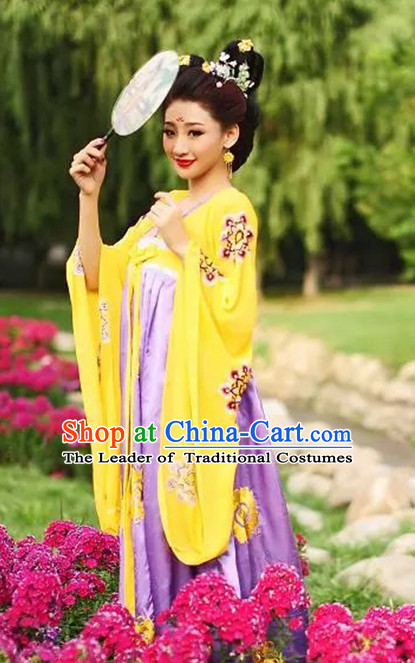 Chinese TV Drama Fairy Costume Ancient Theatrical Costumes Historical Clothing and Hair Jewelry Complete Set for Women
