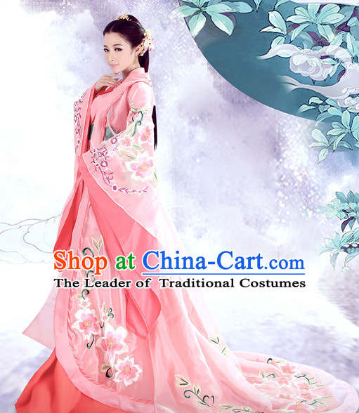 Chinese TV Drama Princess Costume Ancient Theatrical Costumes Historical Clothing and Hair Jewelry Complete Set for Women