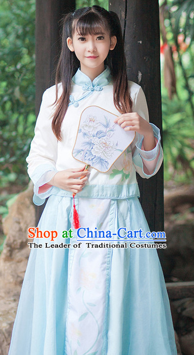 Ancient Chinese Stage Dress National Costume Halloween Costumes Hanfu Chinese Dresses Chinese Clothing