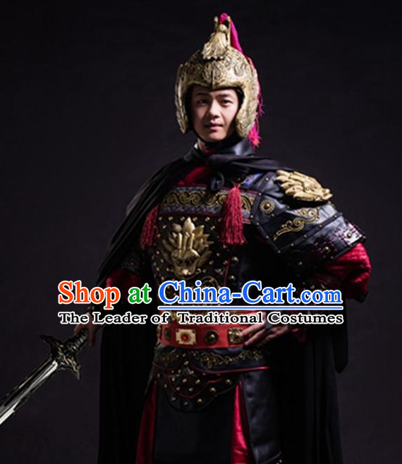 Ancient Chinese General Costume Armor Costumes Complete Set for Men