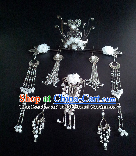 Princess Hanfu Hair Accessories Headpiece Headdress Phoenix Crown Hair Decoration Head Hairpin Accessories Comb Wedding Headwear Hair Accessorie Head Dress
