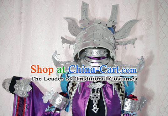 Top Chinese Traditional Armor Cosplay Suphero Supheroine Classical Headwear Hat