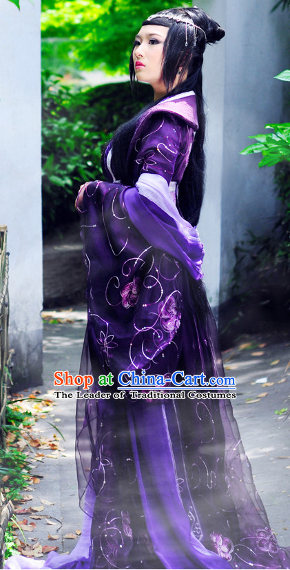Purple Ancient China Princess Imperial Garment Traditional Costumes High Quality Chinese National Costume Complete Set for Women