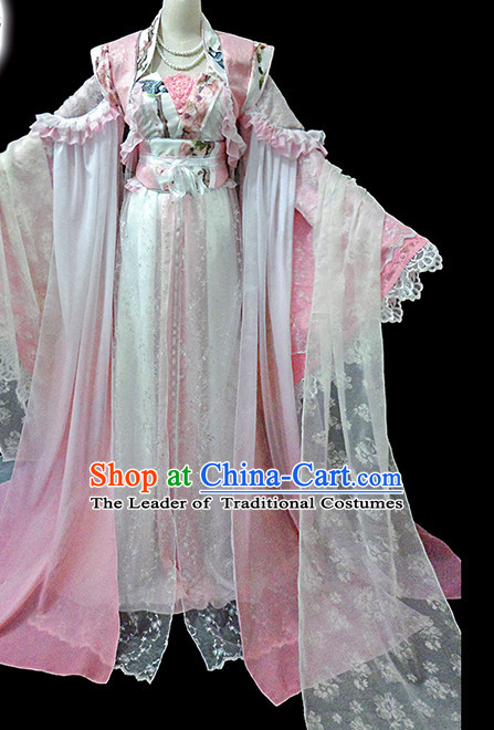 Pink Ancient China Princess Garment Traditional Costumes High Quality Chinese National Costumes and Accessories Complete Set for Women