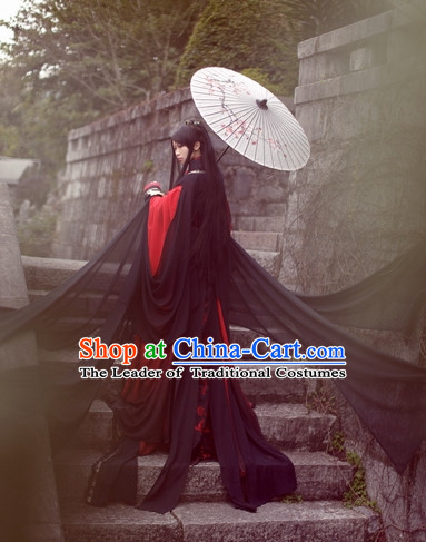 Top Chinese Ancient Swordsman Costumes Theater and Reenactment Costumes Complete Set for Men