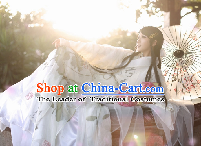 Top Chinese Ancient Artist Clothes Theater and Reenactment Costumes Complete Set for Men