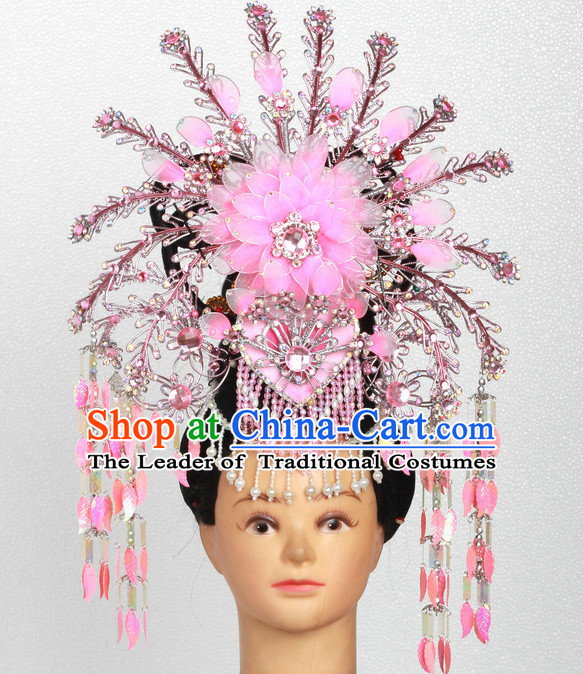 Supreme Handmade Chinese Ancient Imperial Palace Princess Headwear Headgear Hair Jewelry Hairpieces Set