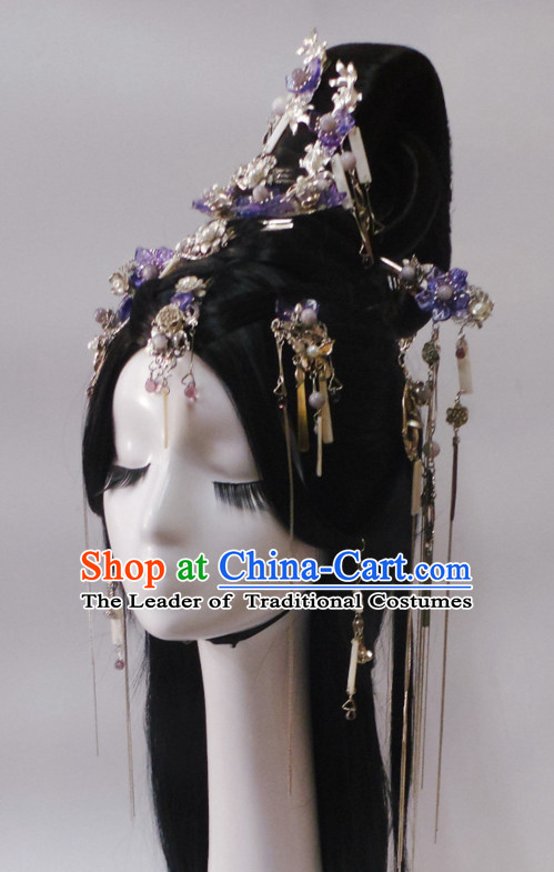Chinese Classic Princess Headwear Crowns Hats Headpiece Hair Accessories Jewelry Set