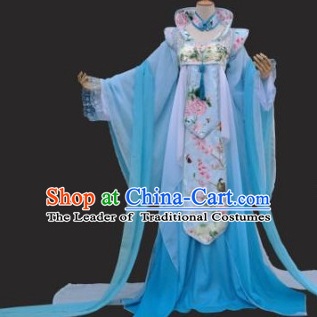Chinese Traditional High Collar Empress Clothing Complete Set