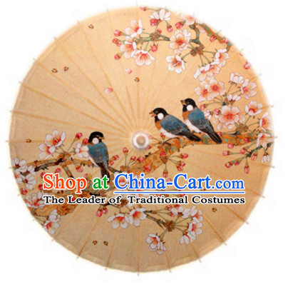 Asian Dance Umbrella Chinese Handmade Birds Flower Umbrellas Stage Performance Umbrella Dance Props for Kids