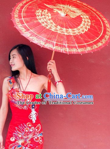 Asian Dance Umbrella China Handmade Classical Wedding Phoenix Umbrellas Stage Performance Bridal Umbrella Dance Props