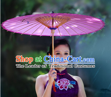 Purple Asian Dance Umbrella China Handmade Classical Ba Gua Umbrellas Stage Performance Umbrella Dance Props