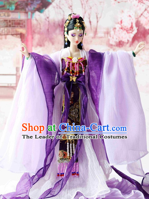 Ancient Chinese Clothing Imperial Dresses and Hairpins Complete Set for Women