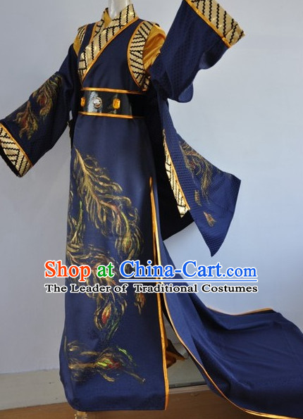 Chinese Swordsman Film Costumes Knight Clothing Warrior Costume and Hair Ornaments Complete Set