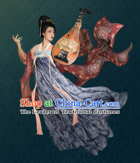 Chinese Ancient Women Fairy Hanfu Clothing Stage Drama Performance Traditional Girls Dress and Headwear Complete Set