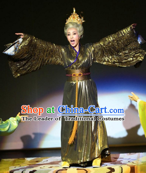 China Ancient Tang Dynasty Opera Costume Only Female Emperor Wu Zetian Stage Performance Women Opera Costumes Complete Set