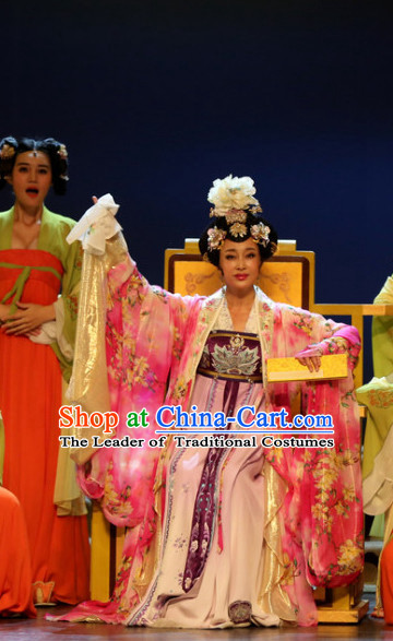 China Ancient Only Female Emperor Wu Zetian Drama Stage Performance Women Costumes Traditional Clothing Complete Set