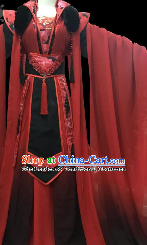 Chinese Hanfu Hakama Traditional Dress Quju Supreme Chinese Costume Ancient Chinese Costume Complete Set