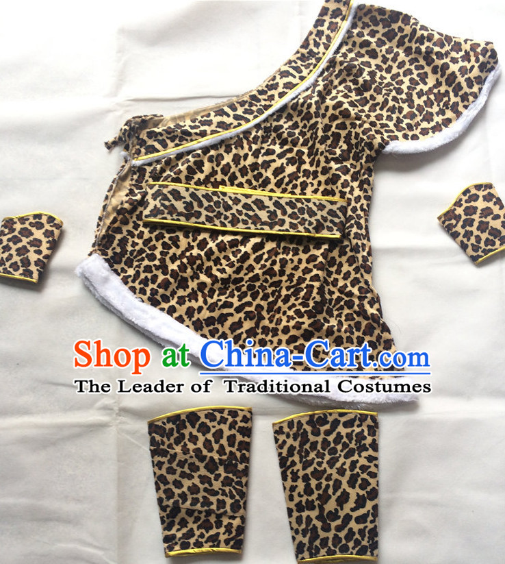 China Ancient Hunter Men Costume Stage Costumes Complete Set