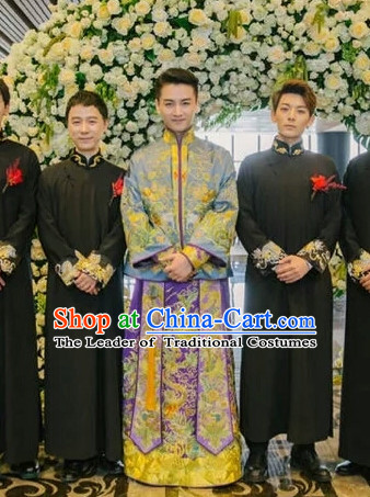 Top Traditional Chinese Phoenix Embroidered Wedding Dresses for Bridegrooms