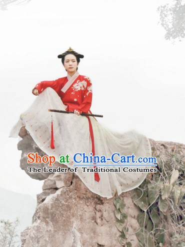 Chinese Ancient Ming Dynasty Clothing Han Fu Suit Complete Set for Women