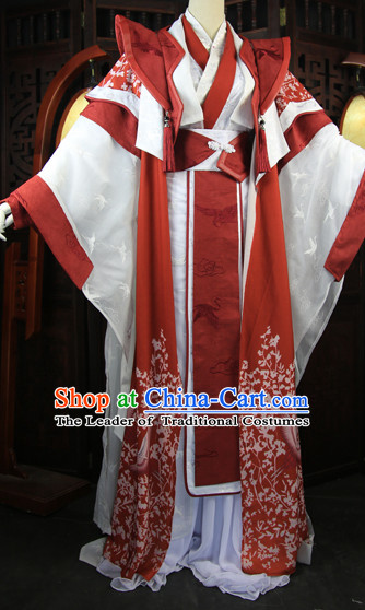 Chinese Traditional Emperor Royal Stage Hanfu Hanbok Kimono Costume Dresses Costume Ancient Garment Complete Set