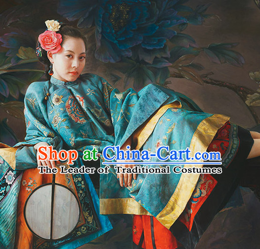Chinese Classical Hanfu Empress Dress Gown Costumes Ancient Costume Clothing Complete Set