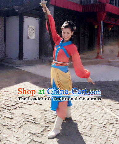 Chinese Female Beauty Hero Costume Stage Drama Costumes Han Fu Costume Complete Set