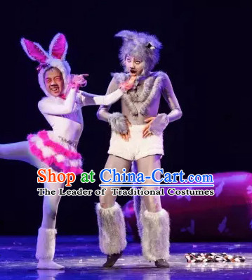 Professional Stage Performance Wolf Dance Costumes Complete Set for Adults or Children