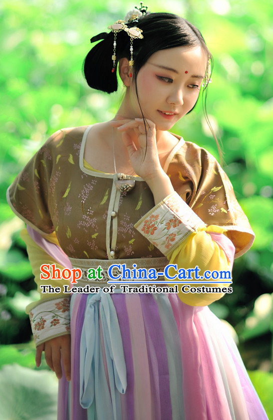 Chinese Princess Tang Dynasty Hanfu Drama Performance Festival Celebration China Film Beauty Dress Rental Garment
