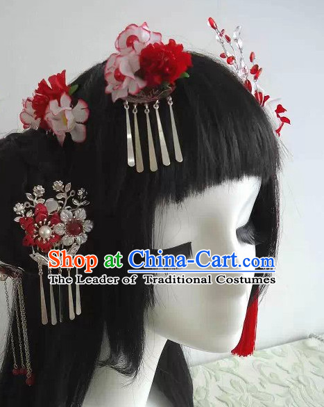 Traditional Chinese Headpiece Headdress Hair Decorations Hair Sticks Head Gear Wig Hair Decoration Set