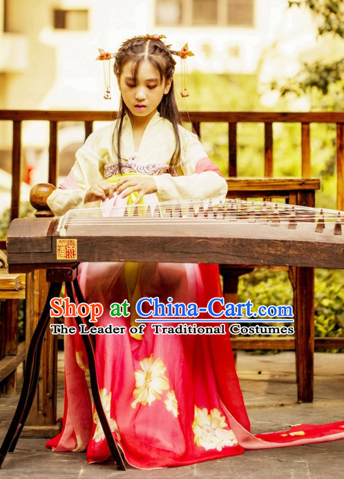Traditional Chinese Stage Tang Dynasty Ruqun Hanfu Costume Historical Dress Complete Set for Women Girls