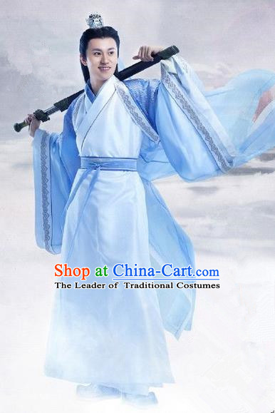 Traditional Chinese Ancient Costumes, Ancient Chinese Cosplay Swordsmen Knight Costume Complete Set for Men