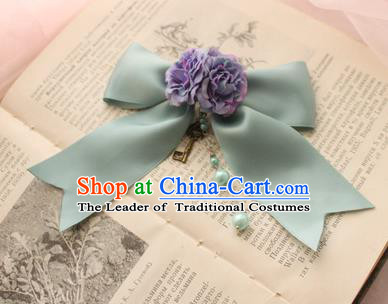 Traditional Classic Ancient Jewelry Accessories Restoring Brooch, Elegant Gothic Bowknot Flower Breastpin for Women