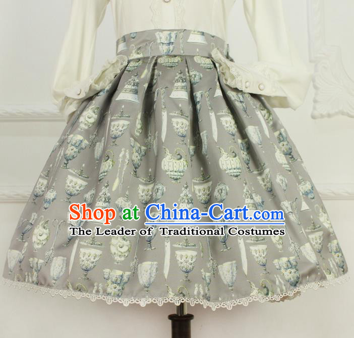 Traditional Classic Elegant Women Costume Bust Skirt, Restoring Ancient Princess Giant Swing Pleated Skirt for Women