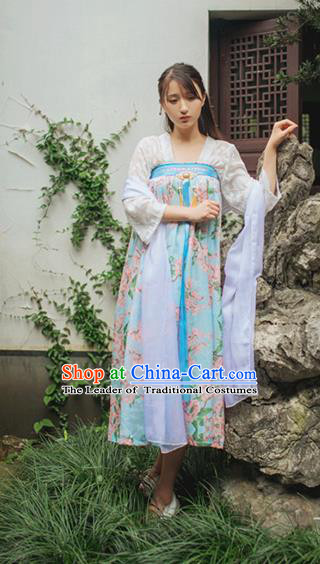 Traditional Classic Chinese Elegant Women Costume Han Dynasty Ruqun Dress, Chinese Hanfu Restoring Ancient Princess Plum Bust Skirt for Women