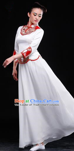 Traditional Chinese Classic Stage Performance Chorus Singing Group Dance Costumes Cheongsam Dress, Chorus Competition Costume, Compere Costumes for Women