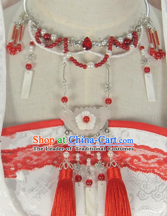 Traditional Chinese Ancient Jewelry Accessories, Ancient Chinese Imperial Princess Jade Necklace for Women