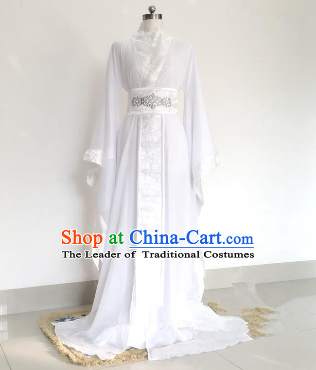 Traditional Chinese Ancient Princess Costumes, Chinese Tang Dynasty Imperial Princess Embroidery Clothes Complete Set for Women